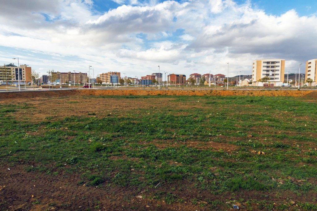 Vacant lot near a city