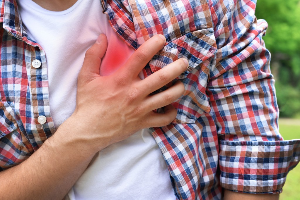 Man having heart complication